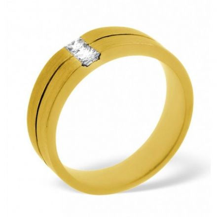 18K Gold 0.16ct H/si Diamond Wedding Band, WB11-16HSY